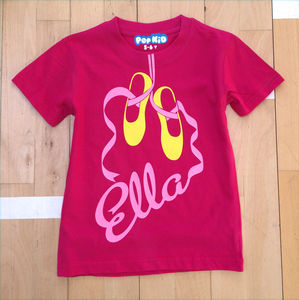 Personalised Ballet Shoes T Shirt