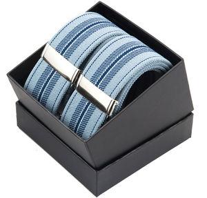 Wide Elastic Y Striped Clip Braces - trousers & jeans