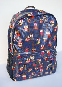 Owl Backpack Navy - backpacks