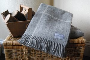 Natural Wool Throws - feeling cosy - autumn home ideas