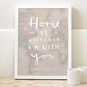 'Home' Map Print