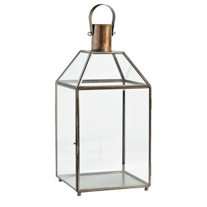 Industrial Lantern In Antique Copper - christmas lighting