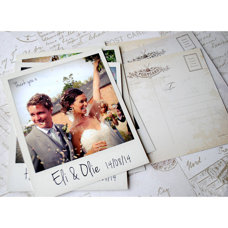 instant photo thank you cards by wedfest – Wedding Thank You Card Designs