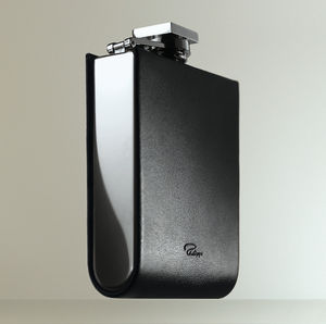 Superb Engraved Hip Flask With Leather Detailing - christmas