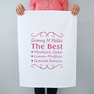 Personalised You're The Best Tea Towel - kitchen