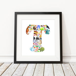 Letter T Print - children's room