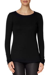 Long Sleeved Round Neck Tshirt - tops