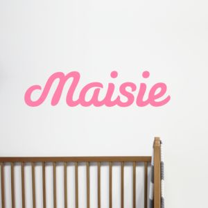 Personalised Name Wall Sticker - office & study