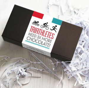 Triathlete Gift Chocolate Bar Box Set - personalised