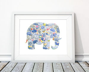 E Is For Elephant Print