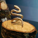 18k Gold Plated Sterling Silver Snake Ring