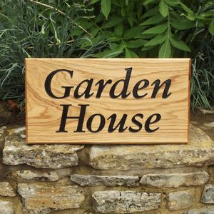 Personalised Oak House Sign