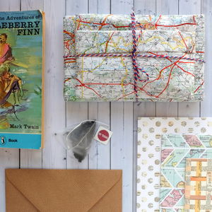Vintage Book, Tea And Stationery Subscription Gift - hampers