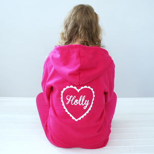 Personalised Heart Onesie - lingerie & nightwear