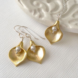 Calla Lily Set Mixed Metal