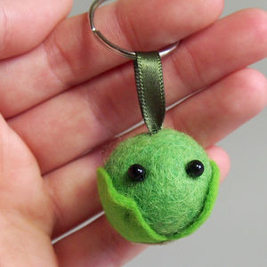 Christmas Sprout Keyring