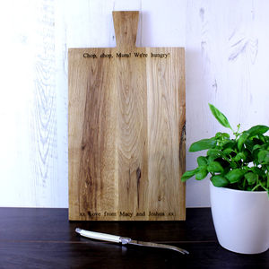 Personalised 45cm Oak Chopping Board