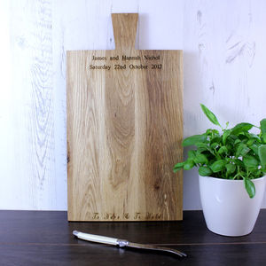 Wedding Vows Personalised Oak Chopping Board