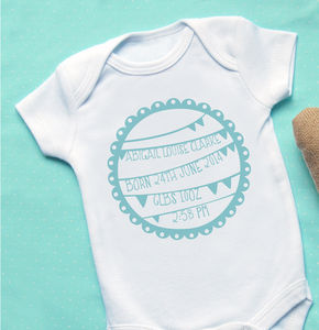 Personalised Baby 'Bunting' Vest