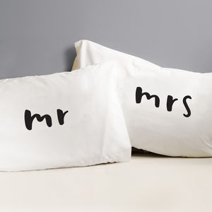Mr And Mrs Pillow Cases