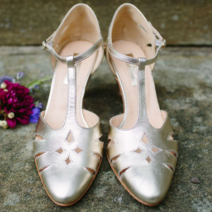 Jasmine Antique Leather Wedding Shoes