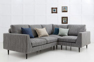 Jake Modern Corner Sofa With Return Arm