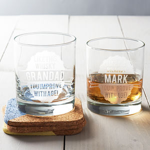 Personalised 'Like This' Glass - gifts for him sale
