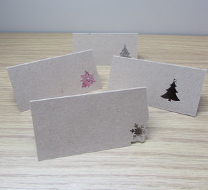 Pack Of Ten Christmas Table Name Place Cards
