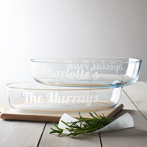 Personalised Glass Dish - kitchen