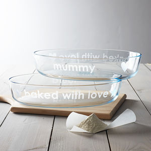 Personalised 'Baked With Love' Pyrex Dish - kitchen accessories