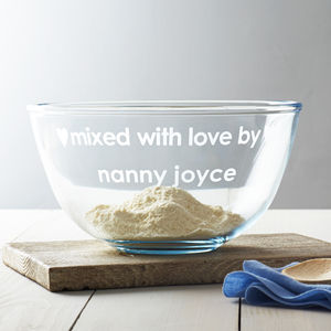 Personalised 'Mixed With Love' Bowl - gifts for bakers