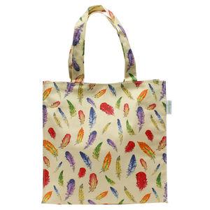Cream Feathers Essential Handy Bag