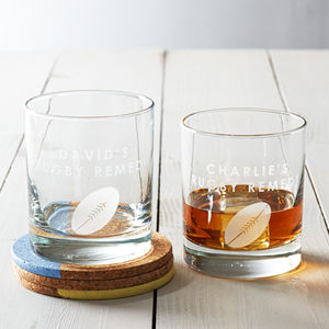 Personalised Rugby Glass - view all father's day gifts