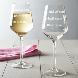 Teachers Wine Glass - drink & barware