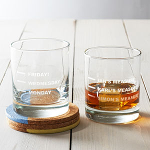 Personalised Whisky Glass - gifts for him