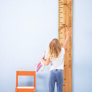 Personalised 'Kids Rule' Wooden Ruler Height Chart - gifts for families