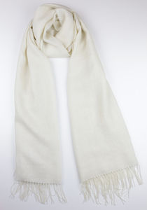 The Alpaca Co. Lightweight Cream Scarf - scarves