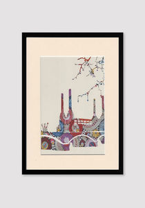 Battersea Embroidery Print - prints & art