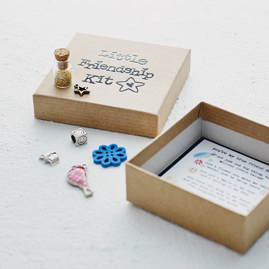 Personalised friendship keepsake charm box by fromlucy for Cute small gifts for friends
