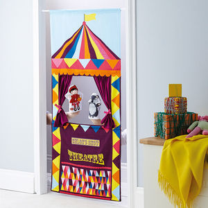 Personalised Doorway Puppet Theatre - indoor activities