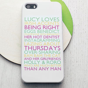 Personalised Case For iPhone - gifts for friends