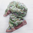 Faded Bird Print Scarf