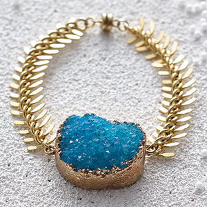 Druzy Statement Bracelet - gifts for friends