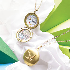 Personalised Map Bird Locket - last-minute christmas gifts for her
