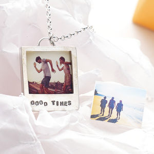 'Say Cheese' Personalised Silver Photo Necklace