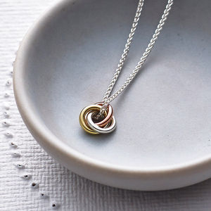 Eternity Solid Nine Ct Gold Pendant - valentines jewellery edit