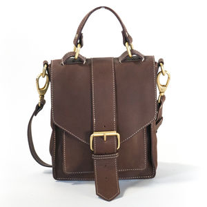 Tan Leather Satchel - holdalls & weekend bags