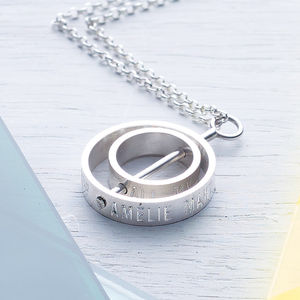 The Day My Life Changed Two Ring Necklace - gifts for her