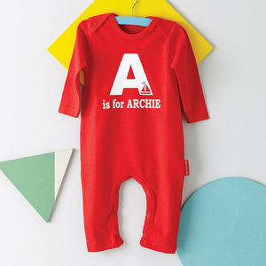 Personalised Alphabet Babygrow - christmas
