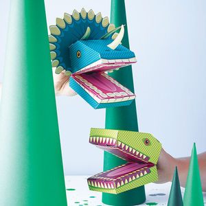 Create Your Own Dinosaur Puppets Kit - for over 5's